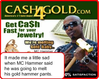 MC Hammer and Ed McMahon team up to melt your gold!